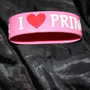 I Love (Heart) Prince Charming Rubber Bracelet